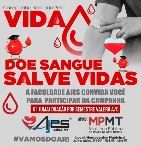 Campanha Solidária pela vida: Doe Sangue e Salve VIDAS